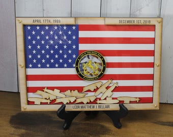 Personalized Guest Book/Flag/Navy/Coast Guard/Army/Air Force/Military/Armed Forces/Retirement/Guest Book/Wood Shape/Submarine/Ships/