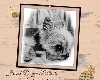 Pet Portrait Dog Portrait Custom Portrait Pet Memorial Pet Loss Gifts Custom Pet Portrait