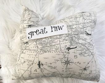 Oregon Small - OREGON Pillow - Maps Print