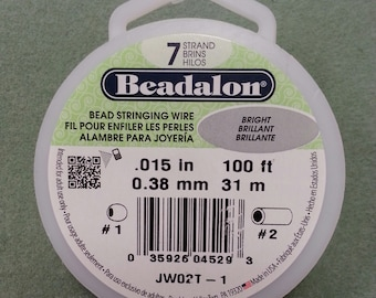 Beadalon Bead Stringing Wire. 7 Strand, .015Thick 100 foot roll