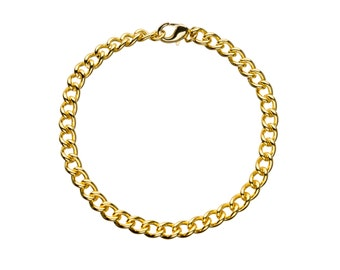 """Classic Links Gold Plated Bracelet for Charms for """"Snap-On"""" Charms"""