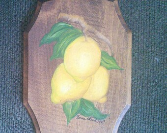 Hand Painted Lemon Plaque