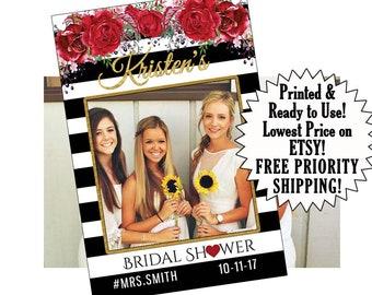 bridal shower photo booth props, bridal shower decorations, photo props, photo booth party props, photo booth frame, party booth