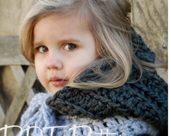 Crochet PATTERN-The Rozlinn Cowl (Toddler, Child, Adult sizes)