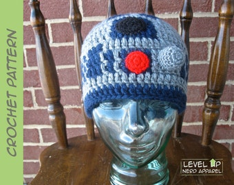 Space Droid I beanie CROCHET PATTERN || 3 sizes || Instant Download