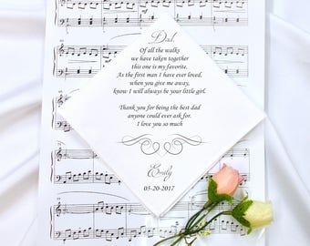Wedding Handkerchief, Father of the Bride Handkerchief, Wedding Hankerchief, Father of the Bride Gift,Printed Handkerchief, Gift #2