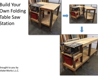 Folding Table Saw Work Station