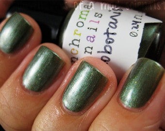 Xenobotanist Nail Polish - rich green with multichromatic shimmer