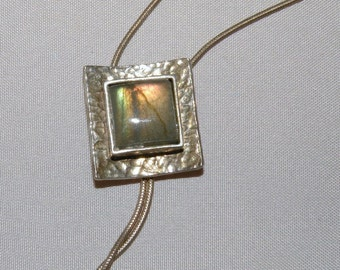 Sterling Silver and Labradorite Slide Necklace