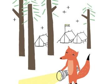 Afdrukken - Fox in het bos - kinderkamer decoratie - kinderen kamer decoratie - fantastic Mr. fox