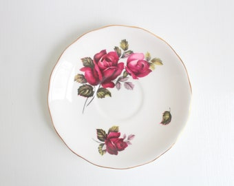 Vintage Ring Dish, Floral Ring Dish, Flower Ring Dish, Pink Ring Dish, Rose Ring Dish, Ring Dish Jewelry Dish Trinket Dish Rose Trinket Dish