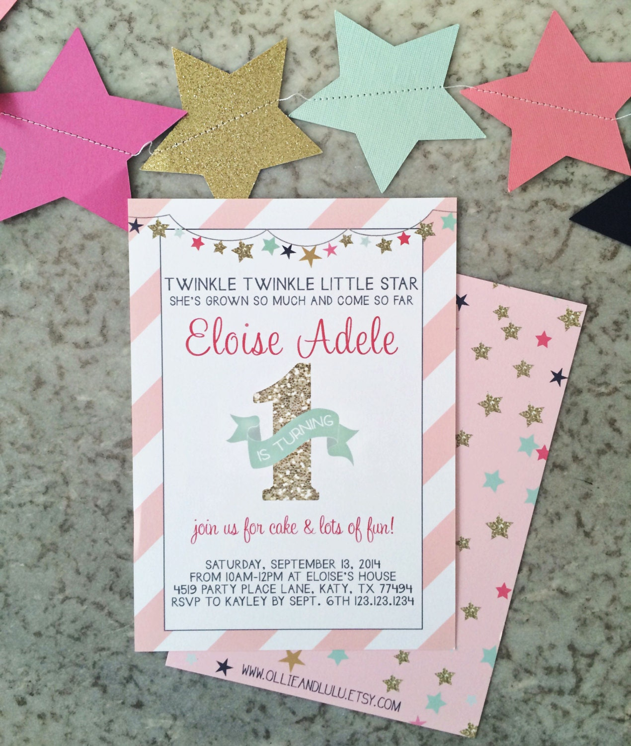 Instant download pink and gold twinkle twinkle little star 1st zoom filmwisefo Images
