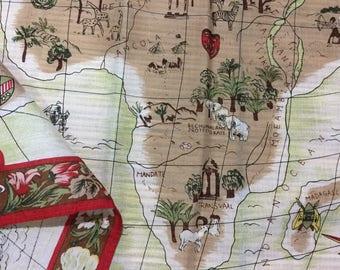 Map handkerchiefs, japan handkerchiefs, map pattern
