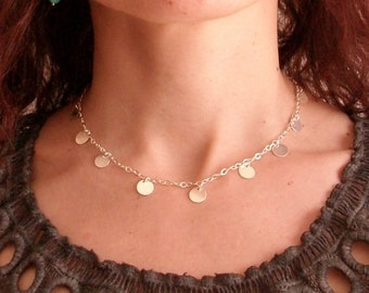 Multi-pastilles 925 sterling silver Choker necklace