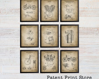 Harley Davidson Patent Print. Harley Motorcycle Poster. Motorcycle Patent. Motorcycle Art Print. Home Decor. Motorcycle Gifts. Man Cave. 151