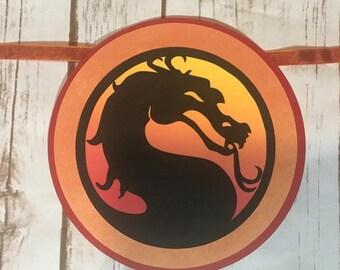 Mortal Kombat Party, Mortal Kombat Birthday Banner, Birthday