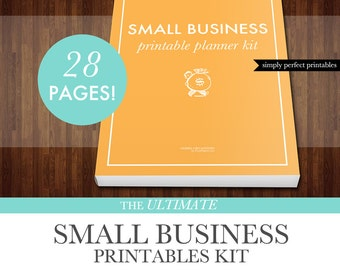 Small Business Planner Printables Kit - PDF - Letter Size