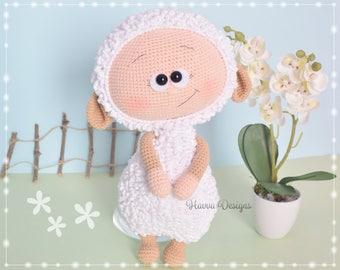 Crochet Pattern  - Bonnie With Sheep Costume (Amigurumi Doll)