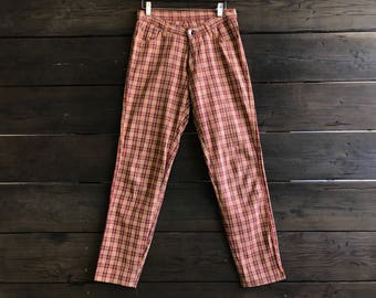 Vintage 70s Plaid Wrangler Pants