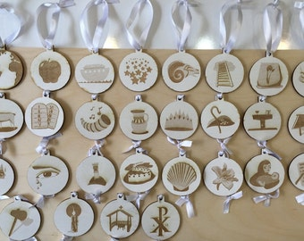 Jesse Tree Ornaments/Advent, with Chalk Paint