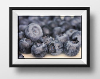 Blueberry Photography-Still Life-Food Photography-Fine Art Print-8x10/11x14/12x18/16x20/20x24/20x30/24x36-Horizontal Print-Kitchen Wall Art