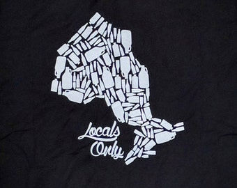 SALE - Locals Only - Ontario craft beer t-shirt - Black