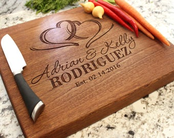 Personalized Chopping Block 12x15x1.75 - Cutting Board, Wedding Gift, Housewarming Gift, Anniversary Gift, Engagement W-027 GB