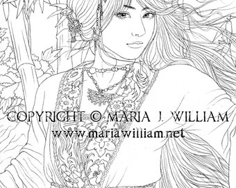Zephyr - coloring page