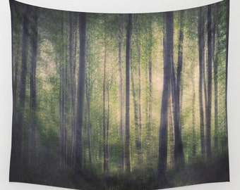 high quality woodland wall tapestry, large size wall art, wall decor, photo tapestry, forest tapesrtry, wicca wiccan, dark art, tree trees