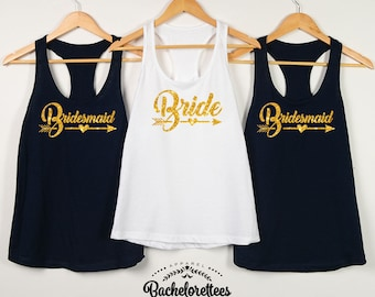 Bridesmaid shirts,Bridal party shirt, Maid of Honor shirt, Mother of the Bride, bridal gift, wedding tank top, bridesmaid gift, D103