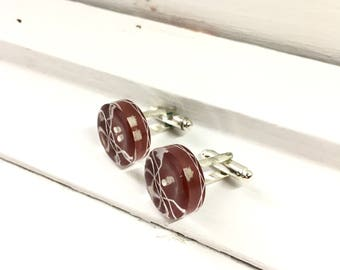 Vintage Button Cufflinks,  Gift for Men, Gift for Dad, Wedding Gift