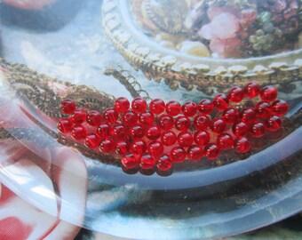 4mm Preciosa Ruby Czech Glass Beads 100Pcs.