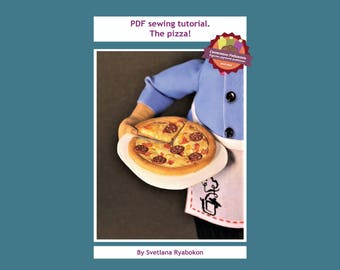 PDF sewing tutorial - pizza! Cloth pizza. Pizza pattern. Sewing pizza.