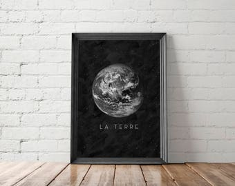 Earth Print, Planet Printable, Earth Wall Art, Earth Printable Art, Planet Wall Art, Planet Earth Poster