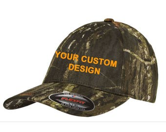 Personalized Camo Hat Flexfit / Customized Dad Cap / Camouflage Flex Fit / Embroidered Dad Hat / Custom Embroidery / Your Custom Apparel