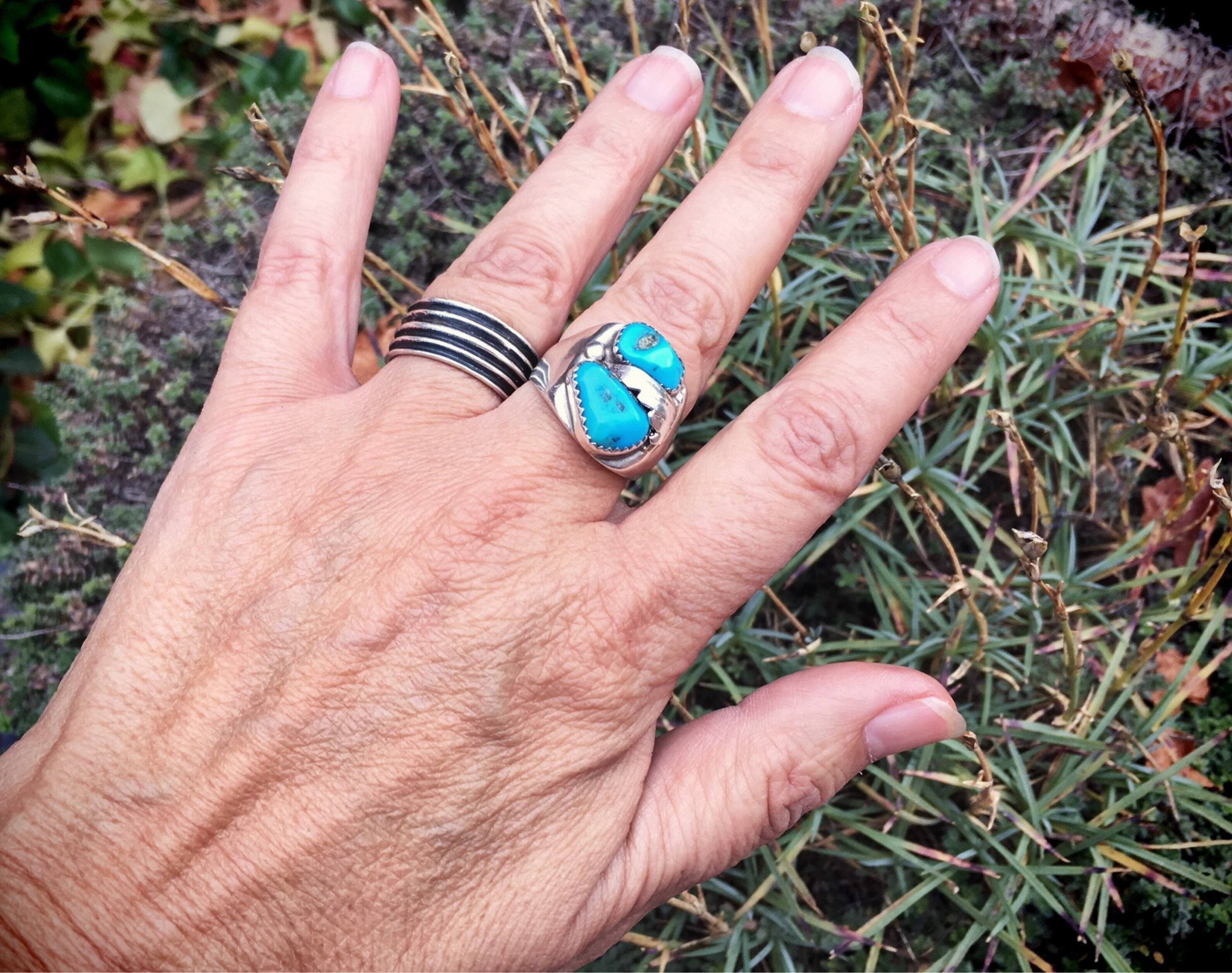 Vintage Turquoise Ring Native American Indian Jewelry Navajo Jewelry