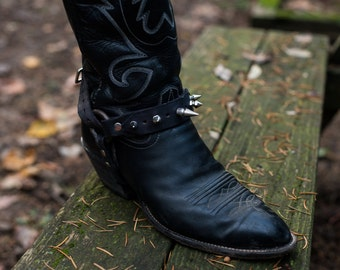 Spiked Boot Harness