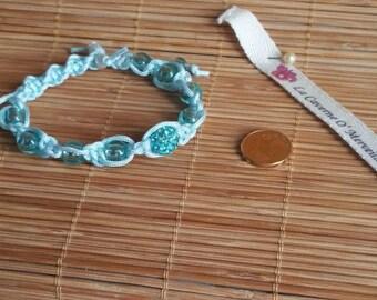Shamballa Turquoise: braided bracelet