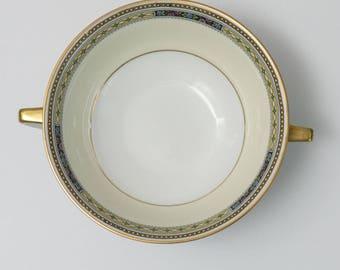 Antique Bavarian China Heinrich & Co Pattern 10263 Unique Boullion/Soup Cup 2 handles