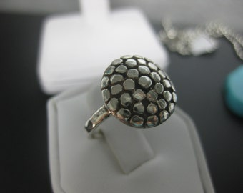 Sterling Silver Nailhead Ring Size 6