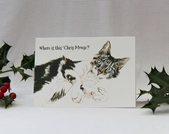 Chris Mouse?! : Illustrated Christmas Card