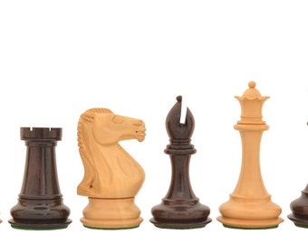 "The Staunton Series Weighted Chess Pieces in Rose & Box Wood - 4.2"" King SKU: S1284"