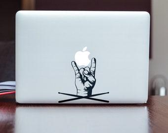 Drummer Life Decal Sticker, Decals stickers for macbooks in vinyl, Drummer Sticks, Music, Artist, Drums, Trap, mac, Macbook Decal Sticker