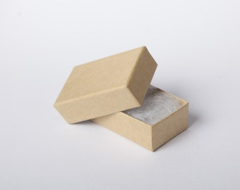 10 Pieces mini Kraft Box 4, 5x3x1, 5 cm jewelry box box cardboard gift wrapping small packaging boxes
