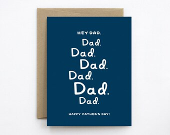 Happy Father's Day Card - Hey Dad