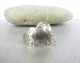 Sterling Silver Cloud Ring, Silver Statement Ring, Weather Jewelry, Cloud Jewellery, Ring Size P, UK Sellers Only, Ring Size 8