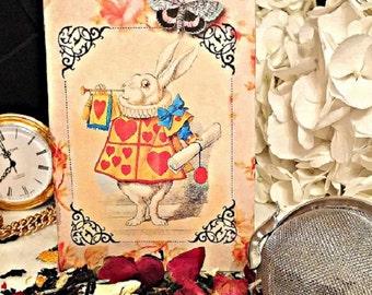 White Rabbit, White Rabbit Tea, White Rabbit Herbal Tea. Tea Time, Tea for Two, English Tea, Loose Leaf Tea, Tea Ball, Tea with Alice,  Tea