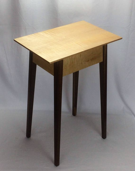 Curly maple and black walnut lamp table aloadofball Images