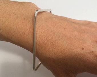 Silver Bangle, Silver square bangle, Silver bangle bracelets, Womens Silver Bracelet, Silver Bracelet, Plain silver bangle, Square bangle,