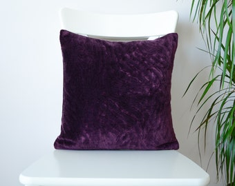 velvet pillow purple, purple velvet throw pillow, purple velvet decorative pillow, purple velvet throw pillow, 16x16, 18x18 20x20 pillows